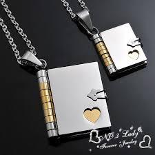 love letter book pendants couple