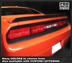 Dodge Challenger 2008 2014 Spoiler Rear Wing Blackout Stripe Decal 152 Pro Motor Stripes