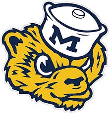 Amazon Com Michigan Wolverines Vinyl Stickers Team Logo Any Size University Of Michigan Football Vinyl Deacl For Truck Car Bumper Laptop Ncaa 3 5 Kitchen Dining