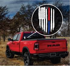 Weathered American Flag Police Line Decal Sticker Midwest Sticker Shop