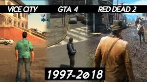 evolution of graphics rockstar games