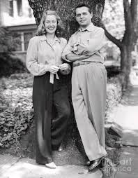Joseph Pevney and Mitzi Green Lean Against Tree. 1947 ...