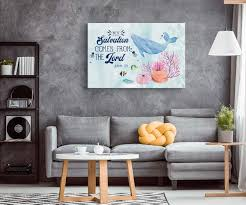 My Salvation Comes From The Lord Jonah 2 9 Scripture Wall Art Christ Follower Life