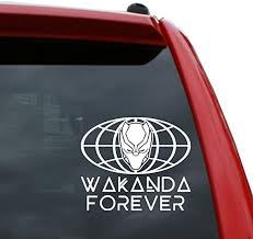 Amazon Com Black Heart Decals More Wakanda Forever World Vinyl Decal Sticker Color White 5 Tall Automotive