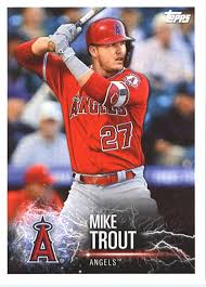 Amazon Com 2019 Topps Mlb Stickers Baseball 62 Mike Trout Aaron Judge Los Angeles Angels New York Yankees Trading Card Sized Album Sticker With Collectible Card Back Collectibles Fine Art