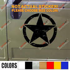 Best Price C4a00 Army Star Decal Sticker Car Vinyl Distressed Fit For Jeep Wrangler Etc Pick Size Color No Background Cicig Co