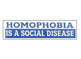 Quot Homophobia Is A Social Disease Quot Blue Bumper Sticker 2 5 X 9 25 Inch Lgbt Male Gay Pride Car Vehicle Decal 2l Pressure Gauge77