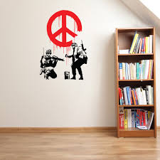 Shop Propaganda Banksy Vinyl Wall Decal Sticker Mural Art Home Decor Overstock 12860834 24 Inches X 35 Inches