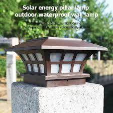 Solar Power Fence Post Lights Led Pillar Lamp Waterproof Intelligent Light Control For Garden Yard Courtyard Path Pillar Solar Lamps Aliexpress