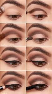 eye makeup application for brown eyes