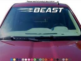Beast Claw Mark Windshield Sticker Decal Graphic Lettering Die Cut Car Truck Suv Ebay