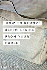 denim stains from your purse
