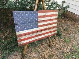 american flag art vintage american