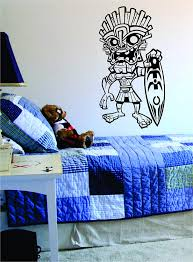 Amazon Com Tiki Surfer Wall Decal Sticker Vinyl Art Hawaiian Beach Teen Home Kitchen