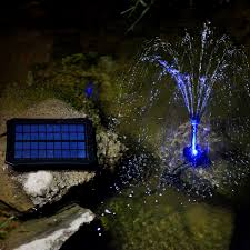 portable solar water pump fountain kit