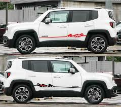 Graphic Auto Side Skirt Stripe Car Sticker Decal For Jeep Renegade Compass 2 Pcs Ebay