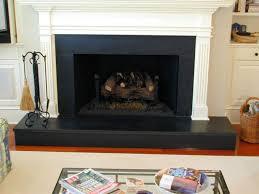 honed black granite fireplace tile