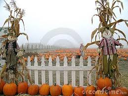 Pumpkin Patch Scarecrows With Picket Fence Fall Outdoor Decor Pumpkin Patch Fall Outdoor