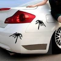 18 7cm 14 1cm Spider Webs Halloween Car Stickers Vinyl Decal Geek