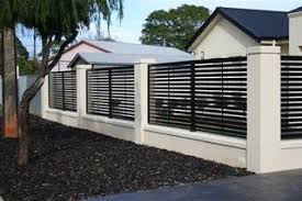 Modern Fencing Modern Fencing Adelaide By Hindmarsh Fencing Wrought Iron Security Doors Modern Fence Design House Fence Design Modern Fence
