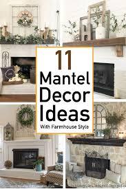 mantel decor ideas with farmhouse style