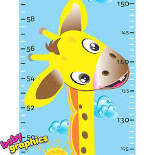 Giraffe Height Chart Removable Decal Wall Sticker By Etsy