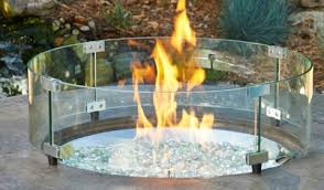 round glass guard for fire pit