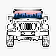Jeep Stickers Redbubble