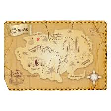 Pirate Map Wall Decal Old Treasure Map Wall Sticker