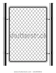 Realistic Metal Chain Link Fence Art Stock Vector Royalty Free 1414459832