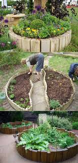 ideas to create a round garden bed
