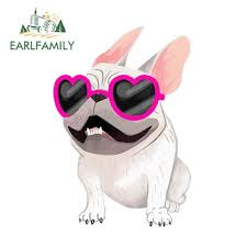 Best Price A724 Earlfamily 13cm X 8 9cm Fashion French Bulldog Cream Vinyl Sticker Car Window Decal Cartoon Car Stickers Waterproof Accessories Cicig Co