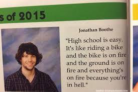 kutipan kutipan kocak para siswa di buku tahunan sekolah