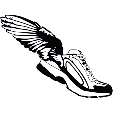 Do It Yourself Wall Decal Sticker Winged Shoes Rubber Shoes Angel Wings Decor 20x20 Walmart Com Walmart Com