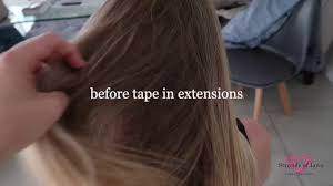 strands of love tape hair extension