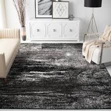 costa mesa silver black area rug