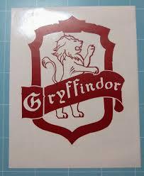 Harry Potter Decal Gryffindor Vinyl Car Decal Gryffindor Etsy