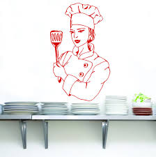 Chef Wall Sticker Decal Stencil Silhouette St42 Decalz Co