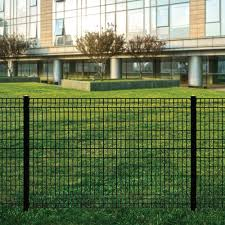 Forgeright Deco Grid 4 Ft X 6 Ft Black Steel Fence Panel 862217 The Home Depot Steel Fence Panels Backyard Fence Decor Fence Panels