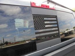 2015 2020 Ford F150 F250 F350 Back Middle Window American Flag Decal Sticker Blk 19 69 Picclick
