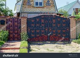 Fence Iron Gate Wrought Iron Gates Stock Photo Edit Now 1048074436