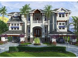 luxury beach home plan 037h 0207