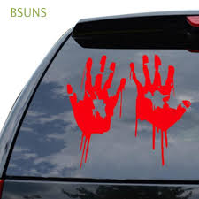 Bloody Hand Print Funny Vinyl Decal Sticker Car Window Laptop Tablet Truck 12 Isp Paris