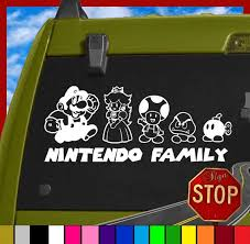 Awesome Family Decal Etsy Listing At Https Www Etsy Com Listing 182248382 Super Mario Bros Stick Family C Mario Kart Party Super Mario Bros Silhouette Vinyl