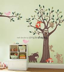 Tree With Forest Friends Decal Set Kids Wall Decals Nursery Etsy