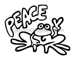 Peace Frog Sticker Frog Stickers Elkhorn Graphics Llc