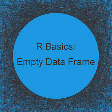 create empty data frame in r exles