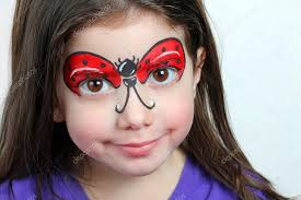 pretty with face painting of a