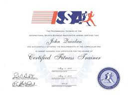 issa specialist in fitness nutrition