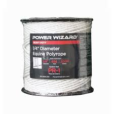 Agratronix Poly Rope Equine 1 4 Diam 656ft 200m Electric Fence Pr Barndoor Ag